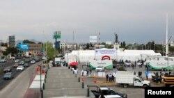 Rumah sakit darurat berkapasitas 50 tempat tidur untuk perawatan intensif pasien corona di Pachuca, Hidalgo, Meksiko, 19 Maret 2020. (Foto: dok).