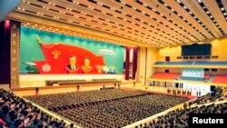 지난 22일 평양에서 열린 조선인민군 4차 중대장·정치지도원대회. (자료사진)
