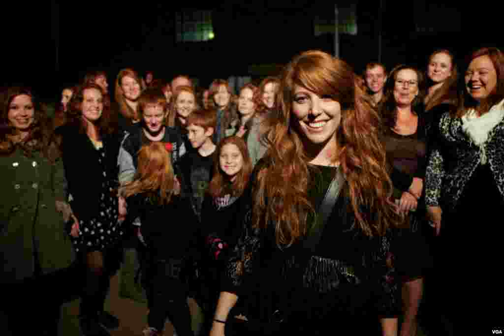 Photographer Anthea Pokroy with some of the redheads she shot for her remarkable I collect gingers exhibition (A. Pokroy)