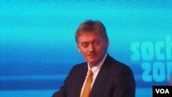 普京新闻秘书佩斯科夫。(美国之音白桦拍摄)