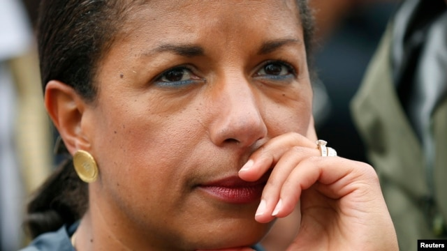 File - U.S. National Security Advisor Susan Rice.