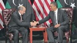 ملاقات باراک اوباما رئیس جمهوری آمریکا و مصطفی عبدالجلیل رئیس شورای ملی انتقالی لیبی در مقر سازمان ملل متحد در نیویورک - سه شنبه ۲۹ شهریور ۱۳۹۰ خورشیدی