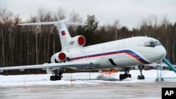 俄罗斯空军图-154飞机(资料图片)