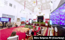 Acara Rakornas BPPT di Istana Negara, Jakarta, Senin (8/3) Dorong Indonesia Harus Mampu Ciptakan Teknologi Canggih. (Foto: Courtesy/Biro Setpres)