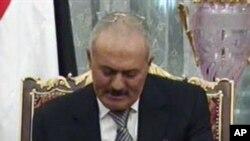 권력 이양안에 서명하는 알리 압둘라 살레 예멘 대통령