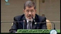 بحرين: ترجمه سخنرانی محمد مرسی غلط بود