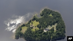 Aerial view of Utøya Island, where the suspected gunman shot and killed at least 84 people. (AP)