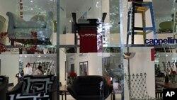 意大利一個著名設計品牌在印度孟買開設的首家陳列室。(資料圖片)