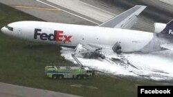 El aeropuerto fue cerrado temporalmente a causa del accidente.