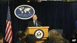 22일 워싱턴 외신기자 클럽, 백악관 국가안보회의 벤 로즈 부보좌관