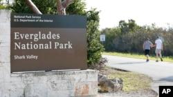 Papan Taman Nasional Everglades, Florida, 2 Januari 2019.