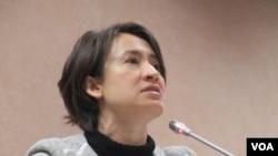 台灣在野黨民進黨立委蕭美琴(美國之音張永泰拍攝)