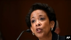 Jaksa Agung Loretta Lynch di Capitol Hill, Washington DC (7/5).