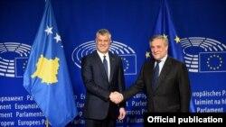 Hashim Thaci, Antonio Tajani