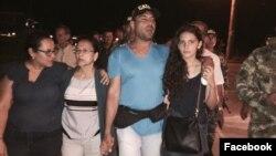 Fueron liberados el periodista Diego D'Pablos y el camarógrafo Carlos Melo
