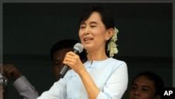 緬甸民主派領導人昂山素姬(資料圖片)