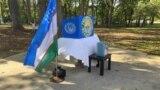 Virjiniya shtatidagi parkda tashkil etilgan ko'chma saylov uchastkasi, 2021-yil, 17-oktabr