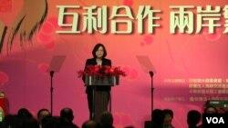 台灣總統蔡英文(美國之音 楊明拍攝)