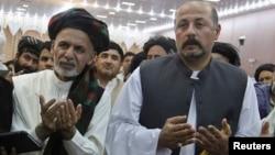 Ubijeni Hašmat Karzai (desno), rođak bivšeg avganistanskog predsednika tokom predizborne kampanje, 6. jun 2014. (arhiva)