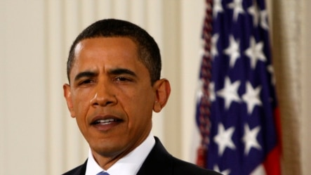 President Barack Obama makes an opening statement during a prime time news conference in the East Room of the White House in Washington, Wednesday, April 29, 2009. The news conference marked his 100th day in office. (AP Photo/Ron Edmonds)