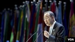 Sekjen PBB Ban Ki-moon (16/1).