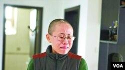诺贝尔和平奖得主刘晓波的妻子刘霞(苹果日报图片)