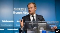 FILE - European Council President Donald Tusk.