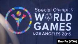 2015洛杉磯特奧會標誌(美國之音 國符拍攝)