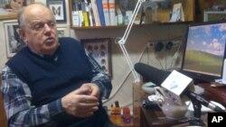 Stanislav Shushkevich speaks with VOA at his home in Minsk