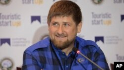 Pemimpin Chechnya, Ramzan Kadyrov membantah laporan bahwa tentara Chechnya membantu separatis pro-Rusia di Ukraina (foto: dok).