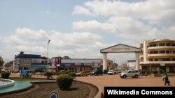 le quartier commercial de Bangui