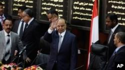 압드라부 만수르 하디 예멘 신임 대통령의 취임식 장면