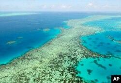 Great Barrier Reef di Australia, 2 Desember 2017. (Kyodo News via AP)