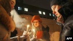 Акция солидарности с задержанными активистами оппозиции