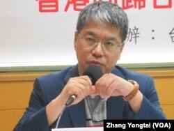 台湾智库执行委员赖怡忠(美国之音张永泰拍摄)