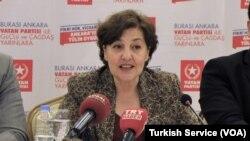 Vatan Partisi Ankara Büyükşehir Belediye Başkan Adayı Prof. Dr. Tülin Oygür