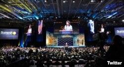 U.S. Ambassador to the U.N. Nikki Haley addresses a conference of Christians United for Israel, in Washington, D.C., July 23, 2018.