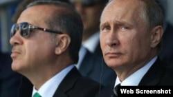 Rəcəb Tayyib Ərdoğan və Valdimir Putin
