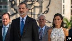 Entre otras actividades, el rey de España Felipe VI y la reina Letizia asisten a una ceremonia para el héroe de la independencia cubana José Martí en la Plaza de la Revolución en La Habana.
