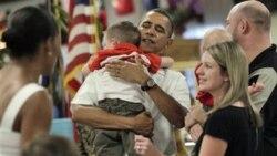 دیدار اوباما با اعضای نیروهای مسلح آمریکا و خانواده های آنان