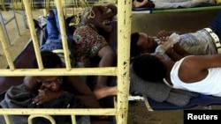 지난해 10월 수단 동부 캇살라주의 난민캠프에서 에리트레아 난민들이 휴식을 취하고 있다. (자료사진)