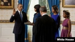 Serok Obama di merasîmeke taybet de li Seraya Sipî sûnda serokatî xwar.