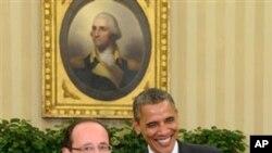 François Hollande ve Barack Obama