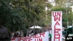 ايرانيان آمريکای شمالی در مخالفت با حضور احمدی نژاد در سازمان ملل دست به تظاهرات زدند