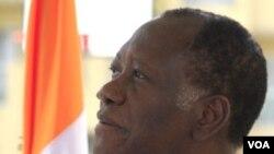 Presiden terpilih Pantai Gading, Alassane Ouattara di Abidjan, 20 Januari 2011.