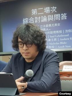 台湾民主实验室理事长沈伯洋(照片提供:沈伯洋脸书)