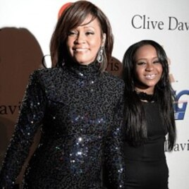 Whitney Houston and daughter Bobbi Kristina in Beverly Hills, CA, February 12, 2011