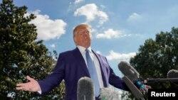 美國總統特朗普希望中國就美國前副總統拜登父子在中國的不法商業行為進行調查的建議。