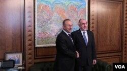 Elmar Məmmədyarov və Mövlud Çavuşoğlu