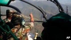 Máy bay trực thăng của Napal tìm kiếm chiếc trực thăng mất tích của Mỹ.